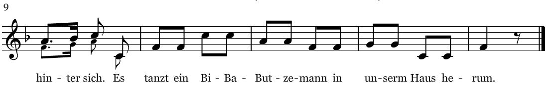 Bi-Ba-Butzemann F-Dur Ende